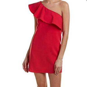 French Connection Red Sundress One Shoulder dress